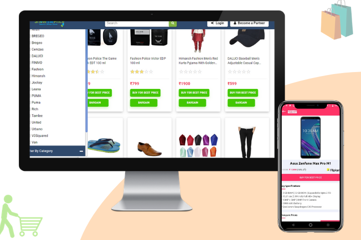 e-commerce website and app development