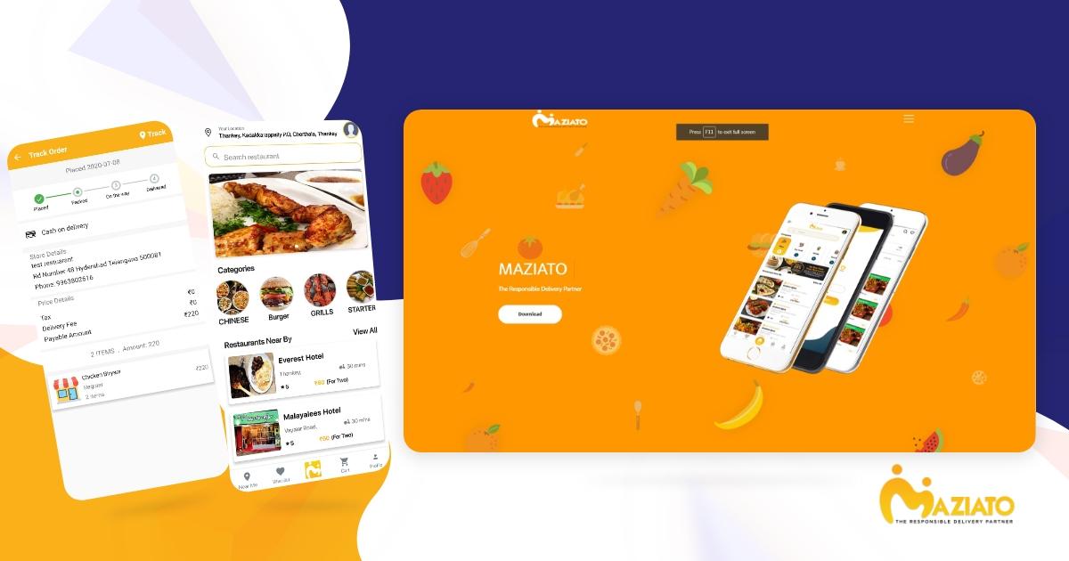 , Food delivery portfolio,
